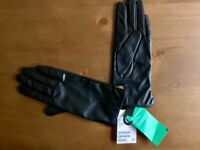 Brand new H&M soft leather gloves - size medium