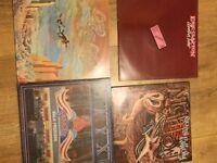 Eric Clapton, Gerry rafferty and Styx vinyl records