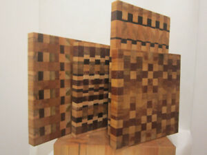 Hand made end grain chopping boards