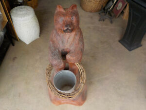 Wood Bear Sculpture