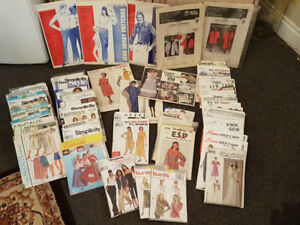 68 ASSORTED VINTAGE 1970's/80's/90's SEWING PATTERNS