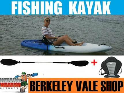 Kayak Package - Seat, Paddle, Fishing Rod Holder FREE DELIVERY CC