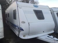 Hobby 645 prestige 2007 fixed bed twin axle touring caravan