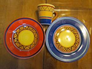 Living~Art Baraka design plates/dishes by Stoneage pottery/china