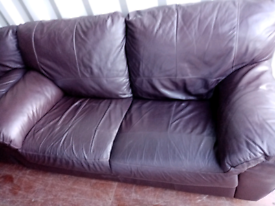 FREE DELIVERY 2 and 3 seater sofas in brown