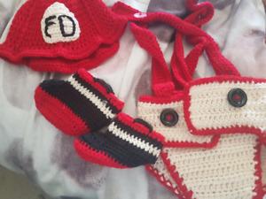 Crochet newborn photo prop outfit