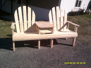wooden patio/lawn chairs