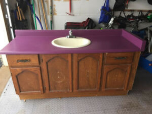 FREE CABINET WITH SINK AND FAUCET!