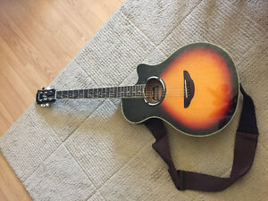 YAMAHA ACOUSTIC GUITAR - BUILT IN TUNER & AMP INPUT