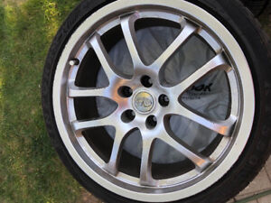 "OEM Infiniti G35 Forged rims 19"" summers tires and wheels"