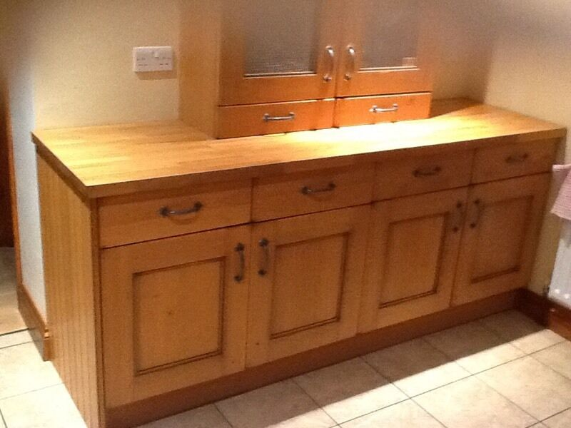 Wickes wooden kitchen units in wick west sussex gumtree for Wickes kitchen cupboards