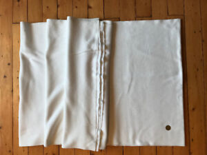 Large panel of stretch, white fabric