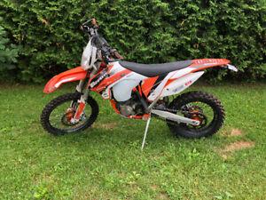 Motocross KTM 500 2015 légal route (79 hrs) + roues super motard