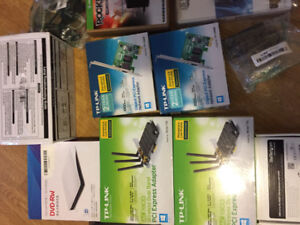 Boxes lot of adapters/parts