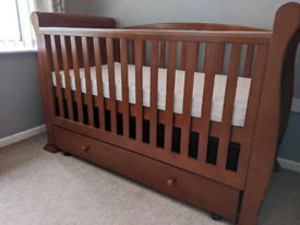 Cot Cotbed Sleigh style toddler bed and day bed in one