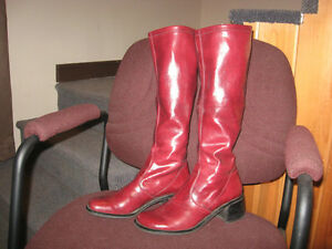 Franco Sarto red boot size 8 1/2
