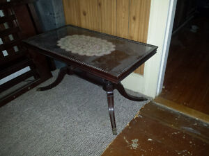 antique coffee table.