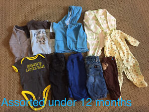 Baby clothes and assorted toys