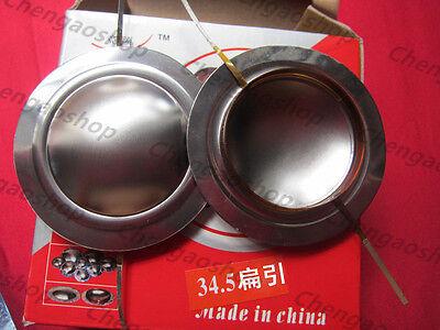 2pc 34.5 Mm Flat Aluminium Wire Titanium Dome Diaphragm Tweeter Voice Coil Qz Zx