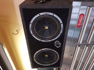 """10"""" kicker subs with 500w amp"""