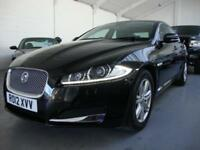 Jaguar XF 2.2TD Luxury Auto 2012, 69k FSH, Black with Black Leather, Sat Nav,