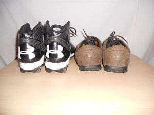 UNDER ARMOUR CLEATS AND TIMBERLAND SHOES size 8