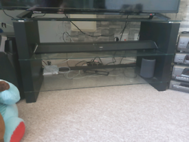 Black led TV stand