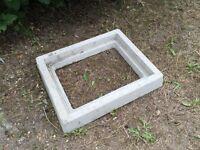 Concrete manhole surround fits 550 x 700mm lid