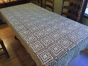 Table Cloth Knitted Crochet