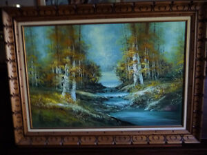 """Forest Sanctuary, Landscape by Paul Cho """"Woodland Stream"""" 1970's Stratford Kitchener Area image 1"""