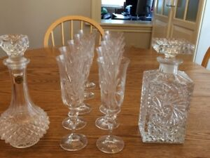Crystal - Glasses, Wine and Whiskey Decanters