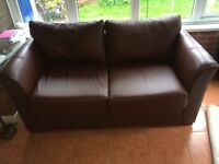 Sofa bed. Real leather!