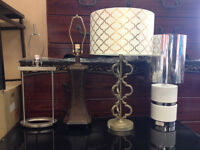 Assortment of Ashley Lamps