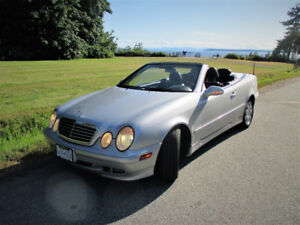 2003 Mercede CLK320 Cabrio, W208 last year produced.