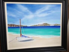 Original oil painting titled 'Paradise'