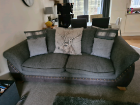 2x SCS Hunter Stag sofas in charcoal grey