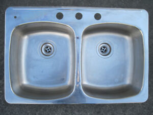 Stainless steal double sink