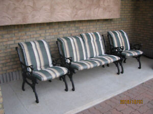 wrought lron  out-door  chairs