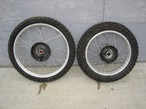 1987 HONDA XL250R WHEELS AND TIRES