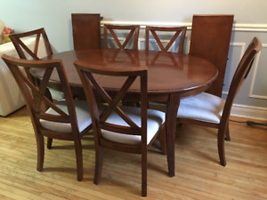 Solid Wood 7- Peice Dining Set (6 Chairs and 1 table)