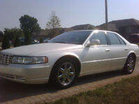 2001 Cadillac STS Sedan pearl white