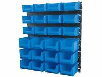 DRAPER 06798 24 Bin Wall Storage Unit (Small/Medium Bins)