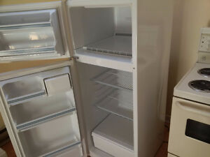 "White 23"" Wide Apartment GE Fridge"