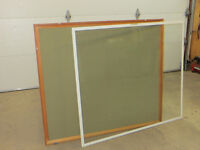 Photo display board with wood frame, glass front . Ex cond. $25