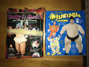 2 Inflatable Halloween Adult size costumes