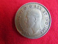 1944 SILVER 50 CENT COIN IN EXCELLENT CONDITION & NICE PATINA