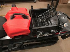 Snowmobile ski and snowboard, fuel rack $360 *LINQ compatible.