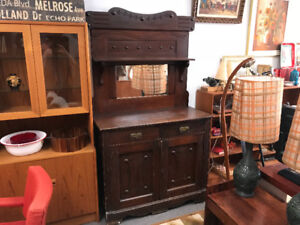 Antique canadiana sideboard cabinet