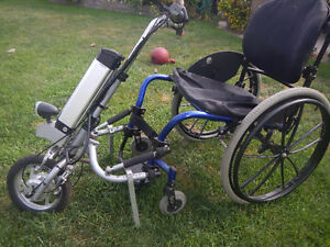 Rio Mobility Handcycle with wheelchair
