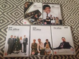 DVD the office 1, 2, Xmas Special and Extras 1 & 2